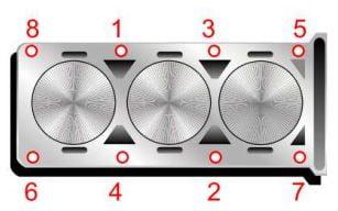 ¿Cuál es el torque de la cabeza del motor EcoFuel 1.0L?