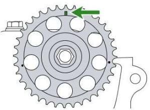 Cadena de distribución del motor 1KR-FE Toyota