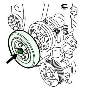 Banda de distribución del motor Y13DT Opel